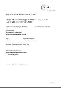 DAkkS Akkreditierung nach DIN EN ISO/IEC 17025:2005