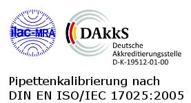 Pipettenkalibrierung nach nach DIN EN ISO/IEC 17025:2005